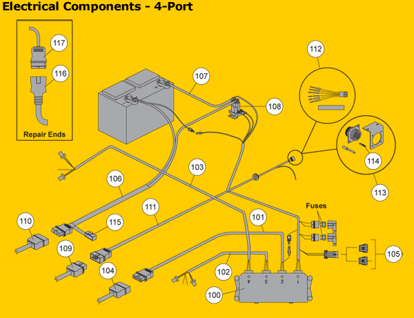 electricalcomponents 4port fisher western electrical components fisher minute mount plow wiring diagram at metegol.co